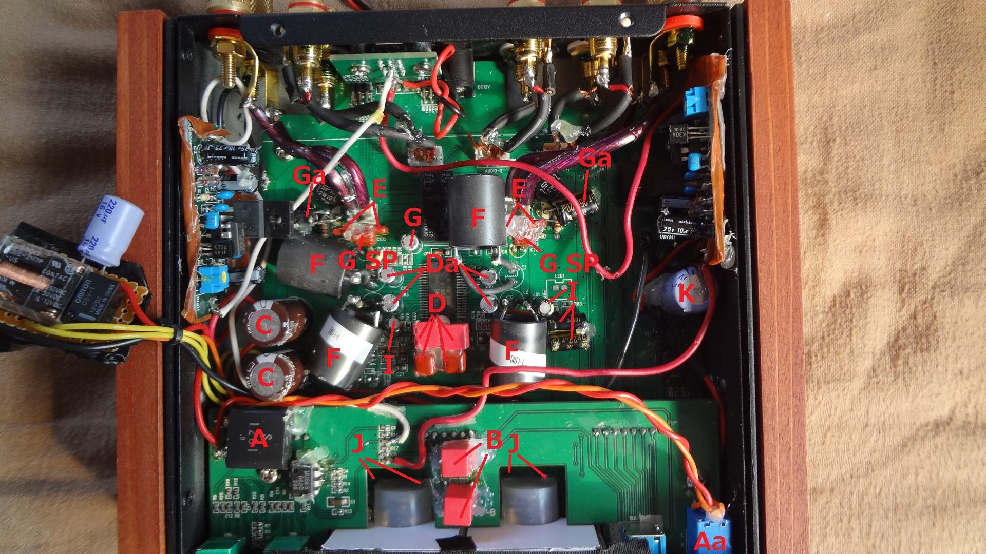 SDAR-2100 オーディオ部品交換