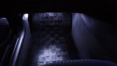 フットライト(足元灯)を配線モールと市販LEDモジュールを使い明るく。