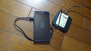 xperia Z1  ワイヤレス qi 充電 テスト
