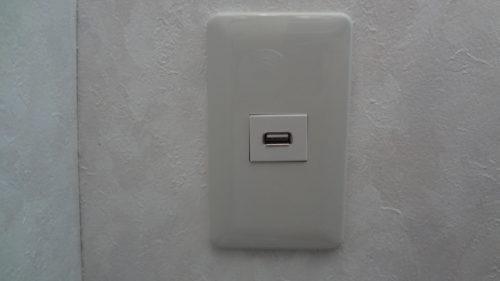 ソーラー発電 5V電源の宅内配線と、USB式埋込コンセントを自作。