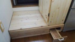 木工 テラスへの踏み台