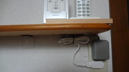 ドアフォン用子機 埋込 コンセント 増設 棚板 電話機子機