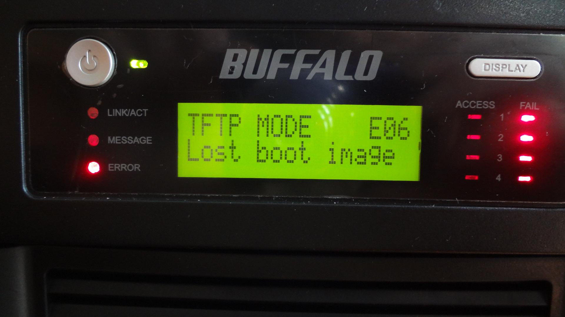 中古のHDDなしバッファロー テラステーション NAS  サーバーを使えるまでの記録。