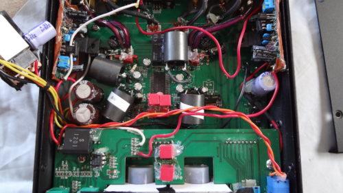 鎌ベイ SCYTHE SDAR-2100 アンプの基盤部品をオーディオ用に交換 したら音質が自分好みに。