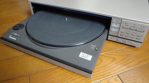 パイオニア レコードプレーヤー PL-88FS のフロントローディングベルトを交換。