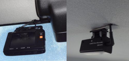 スズキ ハスラー MR41S ドライブレコーダー 後方カメラで側面録画と駐車監視バッテリー