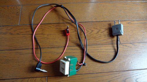 家電製品の電流をテスターで計測するコードを製作